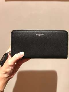 Saint Laurent YSL wallet black 長銀包 黑色 100% real & new