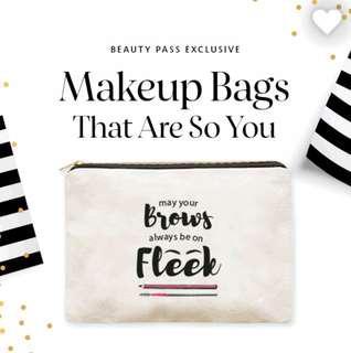 Exclusive Sephora Makeup Bag - May Your Brows Always Be On Fleek