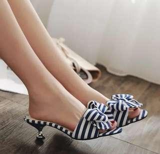 韓國拼色休閑高踭拖鞋,涼鞋,預訂中,兩種顏色35,36,37,38,39