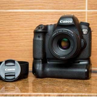 Canon 6D + 50mm F1.8 STM + meike vertical grip SC15XXX