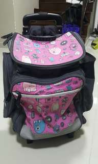 School bag with rollers