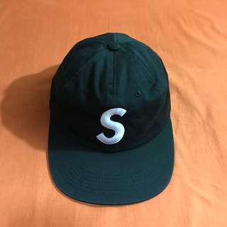 Supreme 6 panel S logo cap black