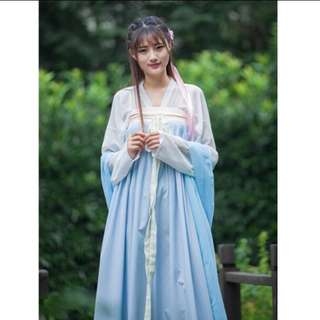🚚 漢服 ( 有淡藍/粉綠/淺黃 )3色可以選