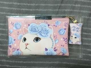CHOO CHOO  cat 化妝包/ 萬用包 韓國直接購入(粉)