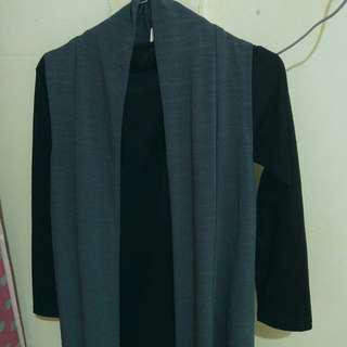 Long Outer Sleeveless Dark Green (with tag)