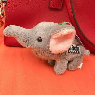 新加坡帶回 小象玩偶吊飾