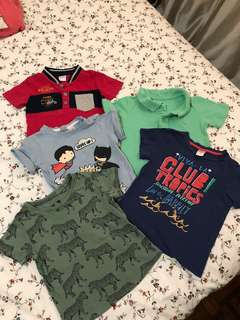 Kiko (red) and H&M (the rest) shirts