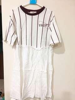 棒球風長版洋裝