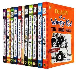 Diary Of A Wimpy Kid (11 books)