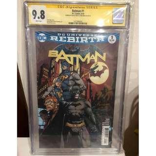 CGC SS 9.8 Rebirth Batman #1 Signed by David Finch & Tom King