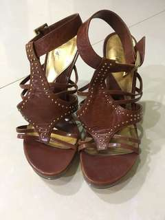 Brown pedro heels