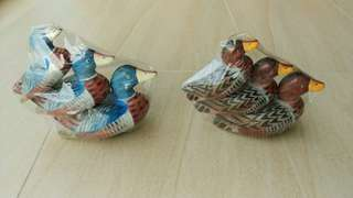 Beautiful Hand Carved and Hand Painted Cute Wooden Ducks