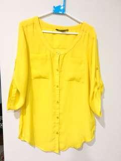 AX 亮黃色襯衫