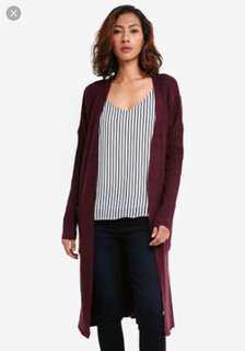Cotton On Maroon Cardigan