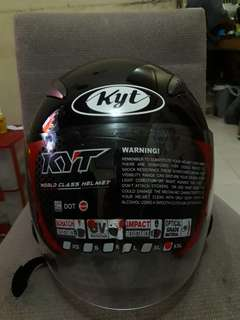 KYT GALAXY Solid black Double Visor new