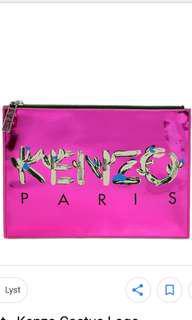 Kenzo metallic fuchsia clutch