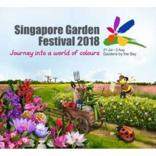 A pair of Weekend Adult Tickets for Singapore Garden Festival 2018