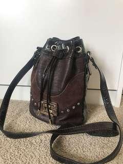 Guess mini bucket bag