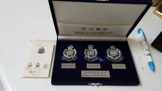 香港警察限量紀念章一套3隻