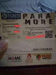 Paramore ticket