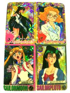 Sailormoon vintage mini cards sticker series collection front and back #July100 #postforsbux
