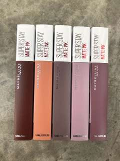 Maybelline Superstay Matte Ink Liquid Lipsticks