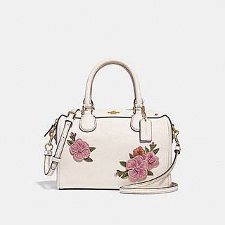 AUTHENTIC COACH MINI BENNET WITH FLORAL EMBROIDERY   (F28075)