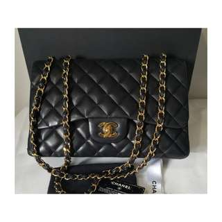 Authentic Chanel Classic Jumbo Black