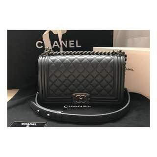 Authentic Chanel Boy Medium