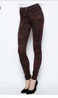 全新dr denim plenty jeans 窄腳褲 size M