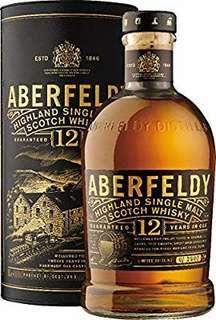 100%全新 Aberfeldy 12年 Whisky 威士忌(limited bottle)