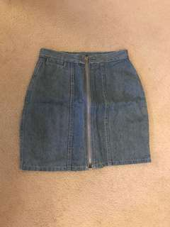 Jean skirt small