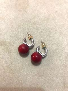 Red ruby earrings