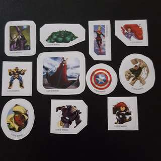 C5C Marvel Set 5 Avengers Sticker Stickers