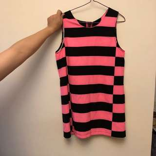 Vivienne Westwood black and pink dress one piece 黑色 粉紅色 連身裙 間條