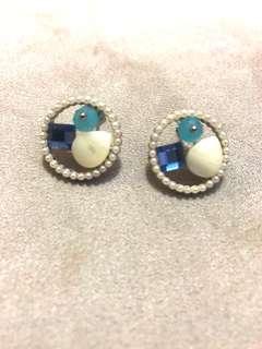 Blue stones earrings