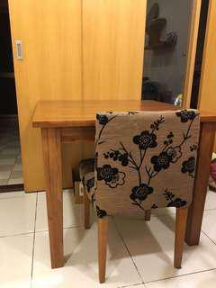 「絶版」詩肯柚木餐桌90x90x74cm 少見尺寸