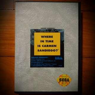 Where in Time is Carmen Sandiego - Sega Mega Drive Genesis 16-Bit Educational Strategy Puzzle Game