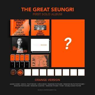 SEUNGRI THE GREAT ALBUM