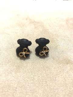 Black bear earrings