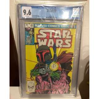 "CGC 9.6 1983 Star Wars #68 Classic Boba Fett Cover ""White Pages"""