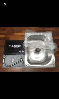 Kitchen Sink and Wall Faucet