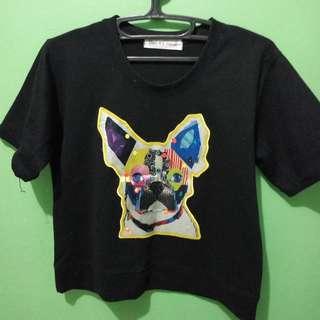 Black doggo shirt