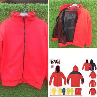 Hoodie motorcycle jacket / jaket CE protection