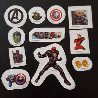 C5C Marvel Set 8 Avengers Sticker Stickers