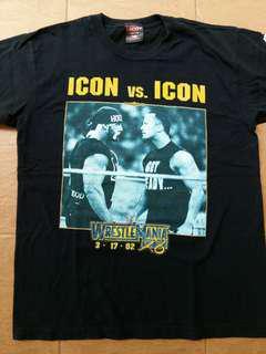 The rock vs hulk hogan wretling t shirt