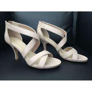 Brand New Aldo Caufield Strappy Sandals Shoes Heels, Nude 8.5~9