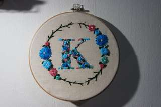 Initial embroidery