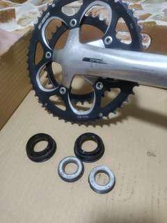 FSA omega crankset plus BB86 press fit BB