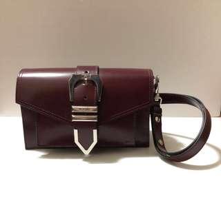 意大利名牌Versus Versace burgundy handbag棗紅色手上袋